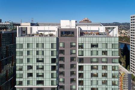 ZO Apartments at 1700 Webster St, Oakland. Drone Photography by Eric Sahlin.